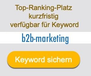 b2b-marketing Anbieter Hersteller
