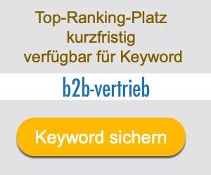 b2b-vertrieb Anbieter Hersteller