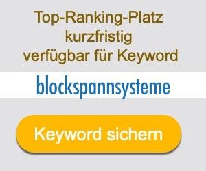 blockspannsysteme Anbieter Hersteller
