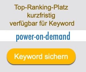 power-on-demand Anbieter Hersteller