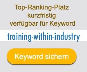 training-within-industry Anbieter Hersteller